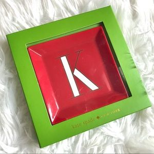 NWT Kate Spade It's Personal K Jewelry Tray